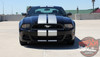 Front View of 2013 Ford Mustang Dual Racing Stripes THUNDER 2013-2014