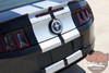 Rear View of 2013-2014 Ford Mustang Racing Stripes Decals THUNDER KIT