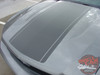 Top Hood View of 2010 2011 2012 ford mustang pony center decals PONY CENTER