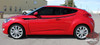 Side View of 2018 Hyundai Veloster Decals RUSH 2011-2015 2016 2017 2018