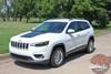 Front View of 2019 Jeep Cherokee Hood Graphics T-HAWK HOOD 2014-2020 2021