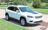 Front View of 2019 Jeep Cherokee Hood Stripes T-HAWK HOOD 2014-2020 2021