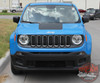 Front View of 2019 Jeep Renegade Decals RENEGADE HOOD 2014-2020 2021