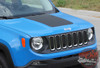 Front View of 2018 Jeep Renegade Hood Stripes RENEGADE HOOD 2014-2020