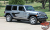 Side View of 2019 Jeep Wrangler Side Stripes ADVANCE SIDE KIT 2018-2020 2021