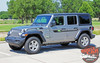Front View of 2019 Jeep Wrangler Decals BYPASS and ACCENTS 2018-2020 2021