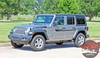 Side View of 2019 Jeep Wrangler Stripes BYPASS SIDE KIT 2018-2020 2021