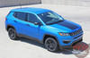 Front view of 2019 Jeep Compass Hood Decal BEARING HOOD 2017-2020 2021