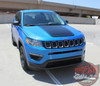 Front view of 2019 Jeep Compass Hood Graphics BEARING HOOD 2017-2020 2021