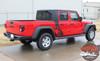 OMEGA SIDES : Jeep Gladiator Side Door Star Decals Vinyl Graphics Stripe Kit for 2020-2021