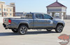 Rear angle view of 2019 Toyota Tacoma Side Door Stripes STORM 2015-2020 2021