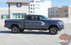 Profile view of 2019 Toyota Tacoma Side Door Stripes STORM 2015-2020 2021