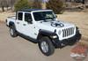 Hood of White Jeep Gladiator - LEGEND HOOD KIT : 2020-2021 Jeep Gladiator Hood Decals Package
