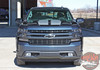 Front View of NEW Trail Boss style Chevy Silverado Stripes BOW RALLY 2019-2021