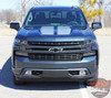 Front close up of NEW Trail Boss style Chevy Silverado Stripes BOW RALLY 2019-2021