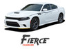 Dodge Charger FIERCE Side Body Vinyl Graphic Decals and Stripe Kit for 2015 2016 2017 2018 2019 2020