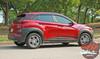 Side of Red Hyundai Kona Stripes SPIRE KIT 2020-2021 Premium Products!