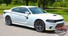 Side View of 2015-2021 Dodge Charger Body Line Stripes RILED SIDE KIT