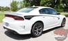 Side Angle of 2019 Dodge Charger Body Line Stripes RILED SIDE KIT 2015-2021