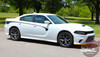 Side Profile View of 2019 Dodge Charger Body Line Stripes RILED SIDE KIT 2015-2021