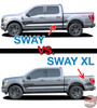 2021 Ford F-150 SWAY Body Door Stripes Vinyl Graphic Decals Kit fits 2021