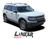 2021 2022 Ford Bronco Sport Upper Body Door Decals LINEAR Stripes Vinyl Graphics Kit