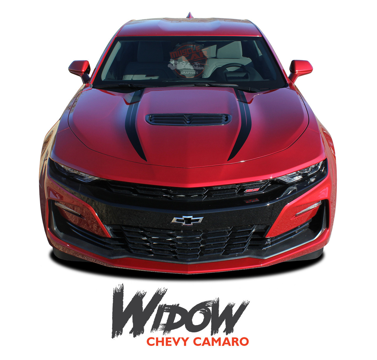 Widow 2019 camaro spider hood decals camaro hood stripes vinyl graphics