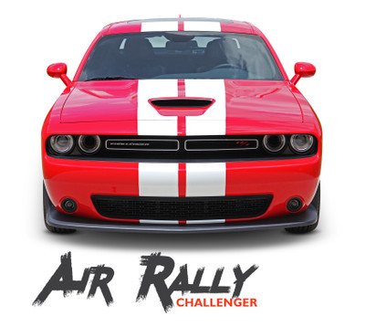 Vinyl Graphics Decal HELLCAT SRT Rear Wrap Kit for 2015-16 Dodge Challenger RED