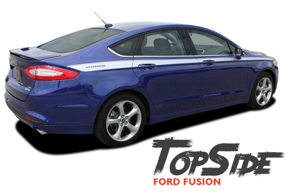 Ford Fusion TOPSIDE Upper Body Door Accent Striping Vinyl Graphics Decals Stripe Kit 2013 2014 2015 2016 2017 2018 2019