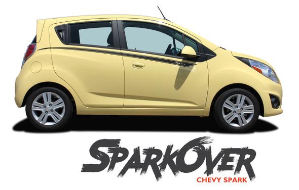 Chevy Spark SPARKOVER Upper Door Body Accent Vinyl Graphics Stripe Decal Kit 2013 2014 2015 2016