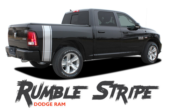 Dodge Ram RUMBLE Rear Bed Body Stripes Vinyl Graphics Decals Kit 2009-2018 Models