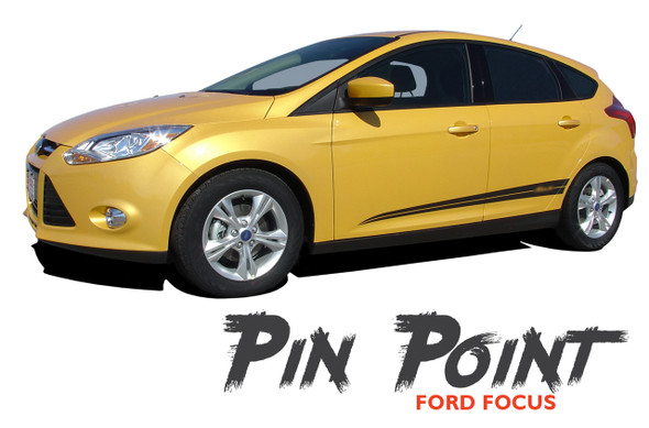 Ford Focus PINPOINT Lower Rocker Panel Door Body Vinyl Graphics Kit 2012 2013 2014 2015 2016 2017 2018