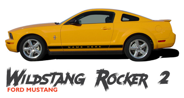 Ford Mustang WILDSTANG ROCKER TWO Lower Door Panel Body Vinyl Graphics Stripes Decals 2005 2006 2007 2008 2009