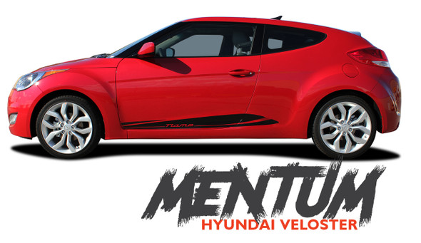 Hyundai Veloster MENTUM Vinyl Graphic Stripes Decal Kit for 2011 2012 2013 2014 2015 2016 2017 2018