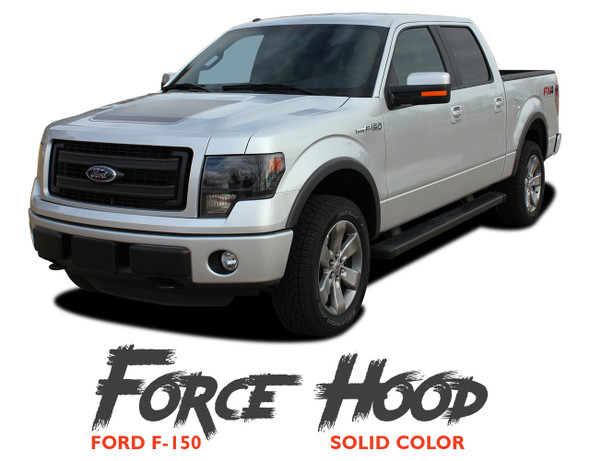 Ford F-150 FORCE HOOD Appearance Package Style Center Wide Vinyl Graphic Decal Kit 2009 2010 2011 2012 2013 2014
