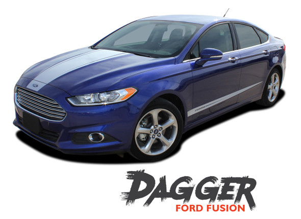 Ford Fusion DAGGER Center Hood Rocker Panel Door Striping Vinyl Graphics Decals Stripe Kit 2013 2014 2015 2016 2017 2018 2019