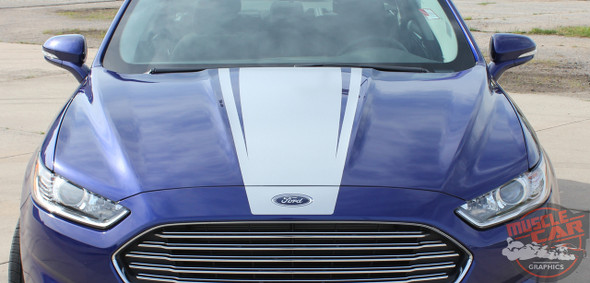 Ford Fusion DAGGER Center Hood Rocker Panel Door Striping Vinyl Graphics Decals Stripe Kit 2013 2014 2015 2016 2017 2018 2019 2020
