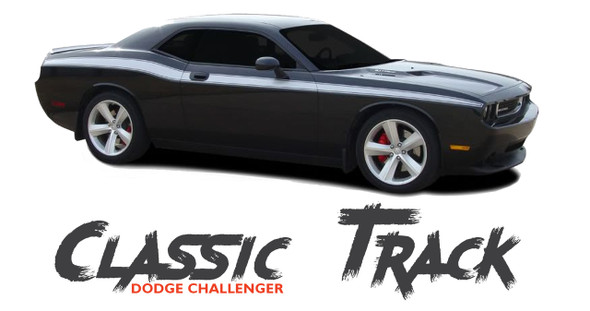 Dodge Challenger CLASSIC TRACK Upper Door Accent Body Line Striping Vinyl Graphic Kit 2011 2012 2013 2014 2015 2016 2017 2018 2019 2020
