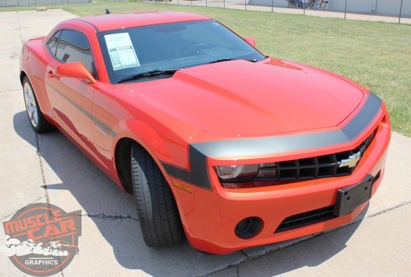 Chevy Camaro VINTAGE Front Fascia to Side Fender Door Vinyl Graphics Stripe Decal Kit for 2010 2011 2012 2013 Models