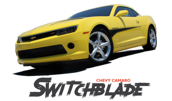 Chevy Camaro SWITCHBLADE Side Door Spears Hood Spikes Striping Vinyl Graphics Decals Kit 2010 2011 2012 2013 2014 2015 Models