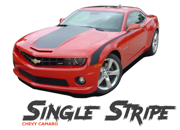 Chevy Camaro SINGLE STRIPE Factory OEM Style Wide Hood Trunk Rally Graphic Vinyl Striping Kit for 2010 2011 2012 2013 Models