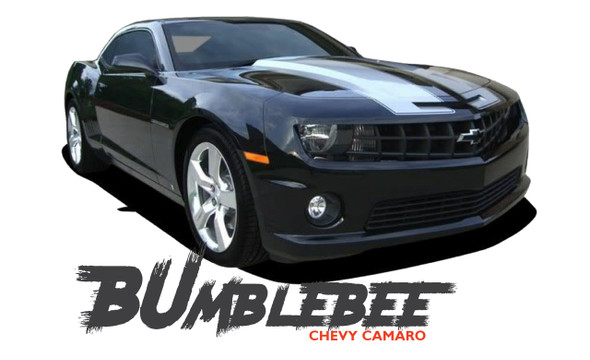 Chevy Camaro BUMBLEBEE Transformers Hood Vinyl Graphics Racing Stripes Kit for 2010 2011 2012 2013 2014 2015 Models
