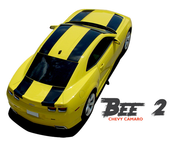 Chevy Camaro BEE 2 Tranformers Hood Racing Stripes Vinyl Graphics Kit 2010 2011 2012 2013 2014 2015