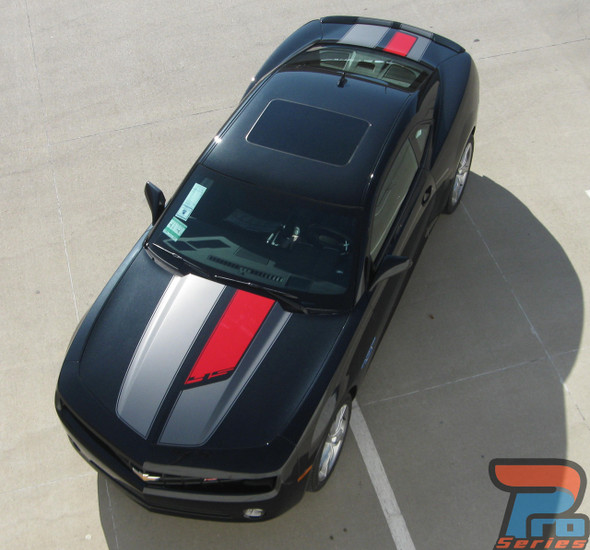 Chevy Camaro ANNIVERSARY R-SPORT 45th Rally Racing Stripes Vinyl Graphics Kit for 2010 2011 2012 2013 2014 2015 Models