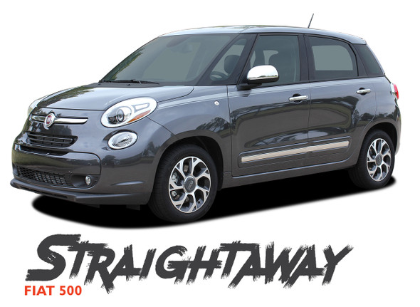 Fiat 500L STRAIGHTAWAY Upper Body Door Accent Abarth Vinyl Graphics Stripes Decals Kit 2014 2015 2016 2017 2018