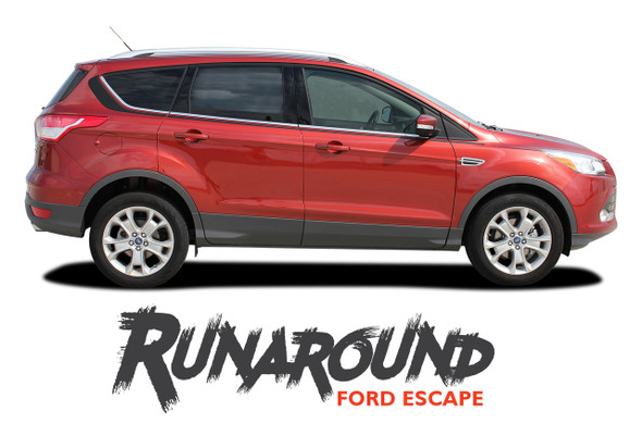 Ford Escape RUNAROUND Upper Body Line Vinyl Graphics Decal Stripe Kit for 2013 2014 2015 2016 2017 2018 2019