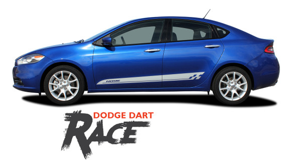 Dodge Dart RACE Lower Rocker Door Panel Vinyl Graphics Decals Body Stripes for 2013 2014 2015 2016