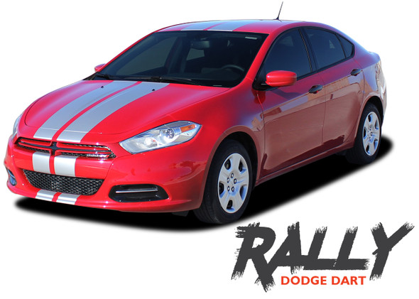 Dodge Dart RALLY Bumper to Bumper 10 inch Rally Racing Stripes Vinyl Graphic Decals for 2013 2014 2015 2016