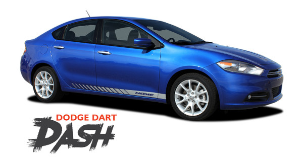 Dodge Dart DASH Lower Rocker Panel Door Body Vinyl Stripes Decals Graphics for 2013 2014 2015 2016