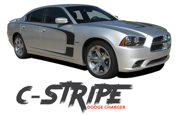 Dodge Charger C-STRIPE Side Door Accent Vinyl Graphics Decal Stripes Kit for 2011 2012 2013 2014 All Models